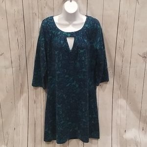 Aryeh Large Blue RETRO Keyhole Sweater Dress!